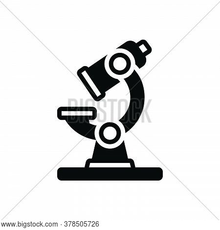 Black Solid Icon For Microscope Instrument Laboratory Magnify Pharmacology Experiment Scientific Lab