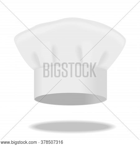 White Chef's Hat Isolated On A White Background. 3d Illustration