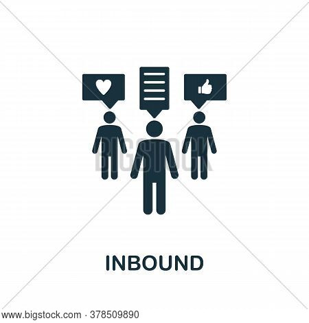 Inbound Icon. Simple Element From Community Management Collection. Filled Inbound Icon For Templates