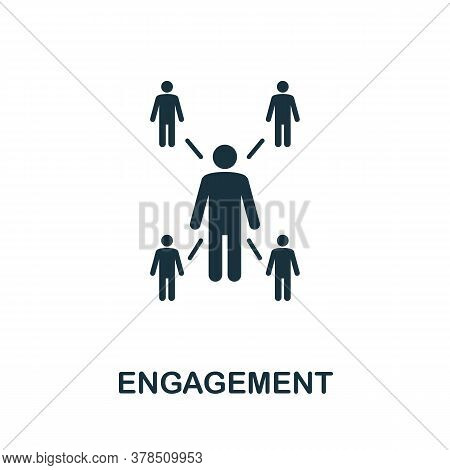 Engagement Icon. Simple Element From Community Management Collection. Filled Engagement Icon For Tem