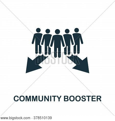 Community Booster Icon. Simple Element From Community Management Collection. Filled Community Booste