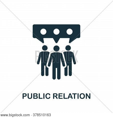 Public Relation Icon. Simple Element From Community Management Collection. Filled Public Relation Ic