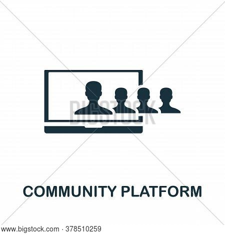 Community Platform Icon. Simple Element From Community Management Collection. Filled Community Platf