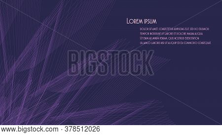 Abstract Red Geometric Background With Unusual Rays. 16:9 Aspect Ratio. Design Layout For Video Back