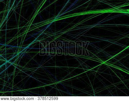 Green Abstract Fractal Background 3D Rendering Illustration