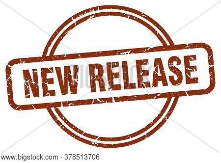 New Release Grunge Stamp. New Release Round Vintage Stamp