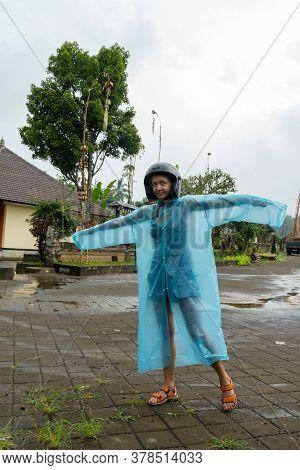 Jatiluwih, Bali Indonesia - April 22, 2013: View Of Tourist Visiting Jatiluwih Mountain Region Of Ba