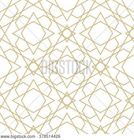 Delicate Pattern In Islamic Style. Seamless Arabic Geometric Vector Texture. Ornamental Backgroung I