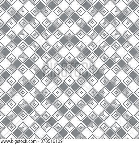 Seamless Pattern. Modern Stylish Texture. Checkered Background. Regularly Repeating Geometrical Rhom