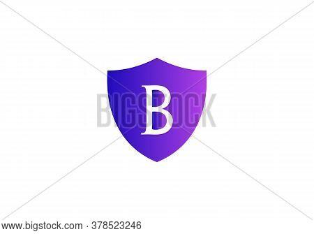 Letter B Logo Design, Creative Modern Trendy With Shield, Shield Logo, B Logo Design
