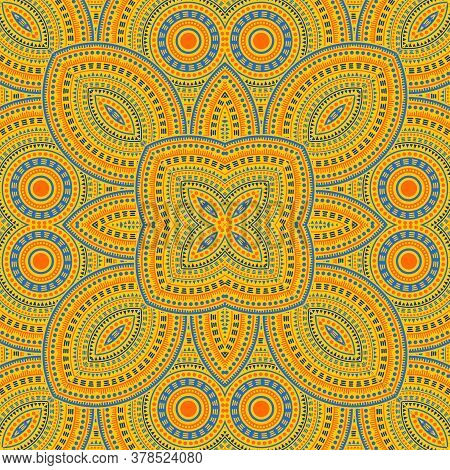 Delicate Moroccan Zellige Tile Seamless Ornament. Ethnic Geometric Vector Elements. Linens Print Des