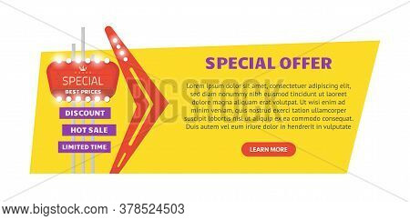 Special Offer Advertisement. Flyer Or Web Banner With Button