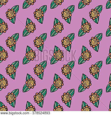 Retro 60s Floral. Vector Repeat Pattern. Great For Home Decor, Wrapping, Fashion, Scrapbooking, Wall