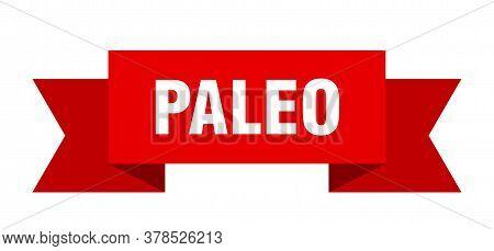 Paleo Ribbon. Paleo Isolated Band Sign. Paleo Banner