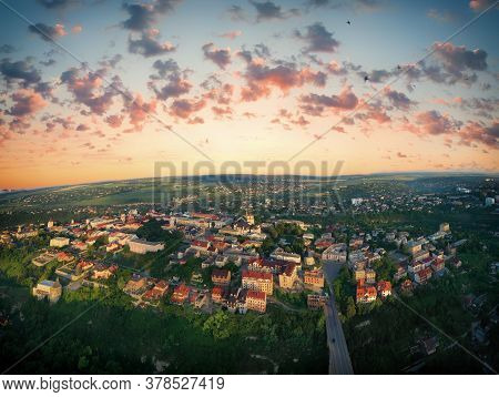 Aerial View Of The Historic Part Of Kamianets-podilskyi