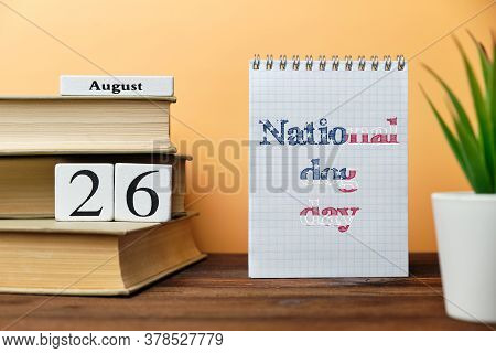 26th August - National Dog Day. Twenty Sixth Day Month Calendar. American Holiday.
