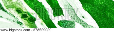 Green Flora Texture. Summer Ink Design. Artistic Underwater Plants. Sea Ink Design. Garden Watercolo