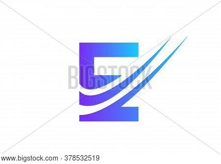 Letter E Logo With Modern Typography Vector Template. Creative Abstract Letter E Logo Vector. E Logo