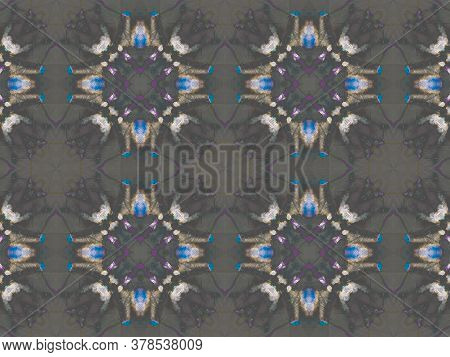 Portuguese Decorative Tiles. Ash Leaves Mandala Carpet. Portuguese Decorative Tiles Background. Palm