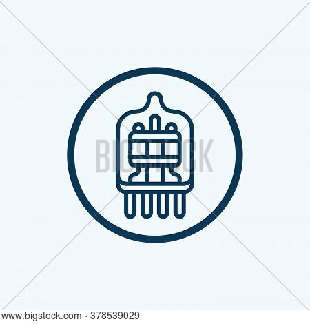 Electrodes Icon. Outline Tesla Electrodes Vector Icon For Web Design Isolated On White Background