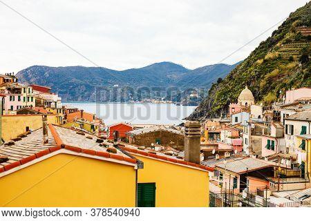 Scenic view of colorful village Vernazza, Cinque Terre, Italy