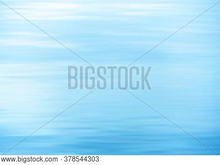 Still Water. Calm Sea Vector Background. Vector Illustration.