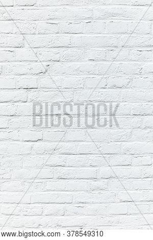 Old White Brick Wall Painted In White As Harmonic Background