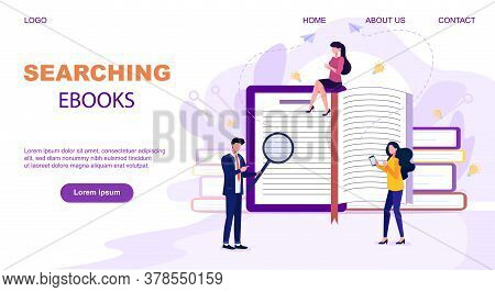 Flat Design Style Web Banner For Online Learning, Education Apps, Ebooks, Online Training Courses, T
