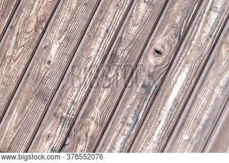 Organic Building. Timber Plank Surface Wall For Vintage Grunge Wallpaper. Dark Grain Panel Board Tab