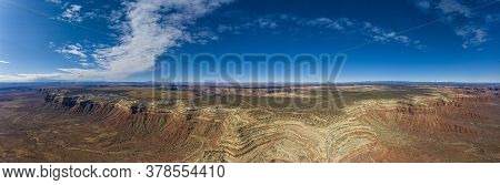 View Over San Juan River Canyon In Utah From Muley Point Near Monument Valley With Spectacular Cloud