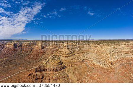 View On Moki Dugway Near Monument Valley In Utah In Winter