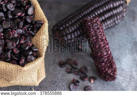 Peruvian Purple Corn, Which Is Mainly Used To Prepare Juice Or A Jelly-like Dessert