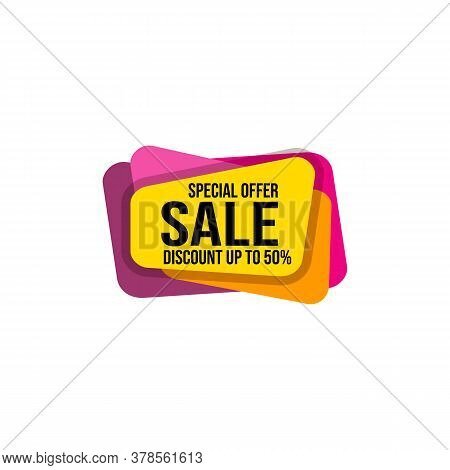 Sales Vector Banner For Labels, Percent Sale Label Symbols, Tags, Web Stickers, Discount Sale Sign B