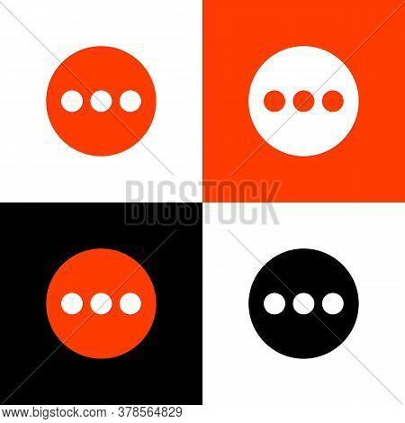 Set Circular And Three Dots Symbol, Modern Icon Design. Vector Circular And Three Dots Icon. Illustr