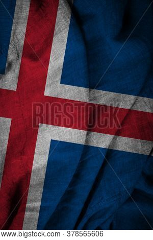 The State Flag Of Iceland Coarse Fabric