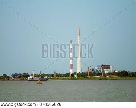 Riverside Industrial Park. Ganges Riverside Industrial District. Ganges River Factories. Riverfront