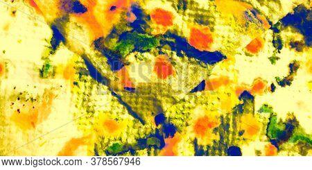 Rough Bronze Decoration. Painting Wealth Rough Illustration. Sparkle Bronze Surface Orange Gold Wall