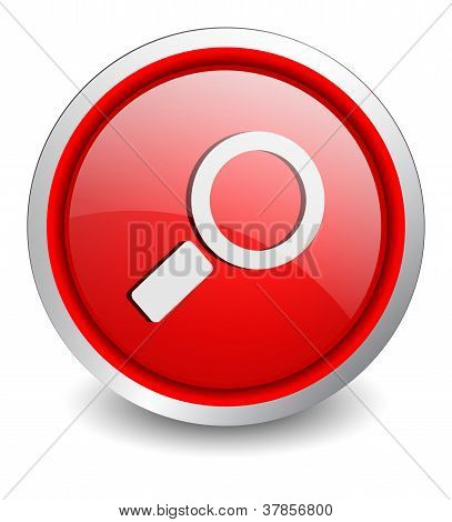 Search red button - design web icon