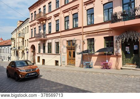Vilnius, July 25: Street Of Old Town On July 25, 2020 At Vilnius, Lithuania. Vilnius, Lithuanias Cap