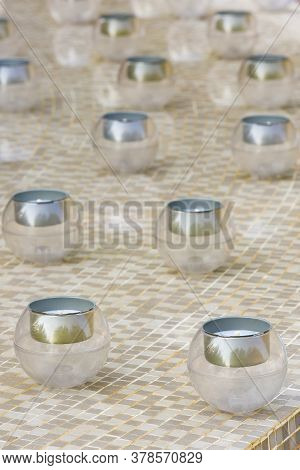 Glass Candle Holder For Candles In Buddhism
