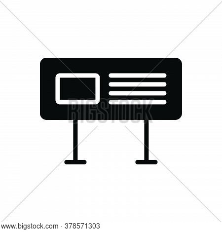 Black Solid Icon For Billboard-advertising Street Banner Poster Mock Holding Advertise Publicity Mar
