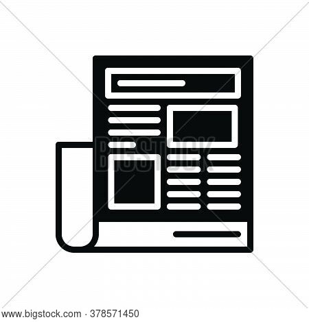 Black Solid Icon For Newspaper-ads Newspaper Paper Opportunity Magazine Interview Document Classifie
