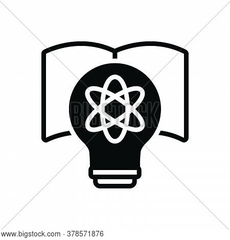 Black Solid Icon For Physics Model Technology Education Bulb Molecules Molecule Chemistry Atom Nucle