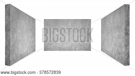 Plaster Or Gypsum Cement Wall Grunge Texture Background For Interior Or Exterior Design. (clipping P