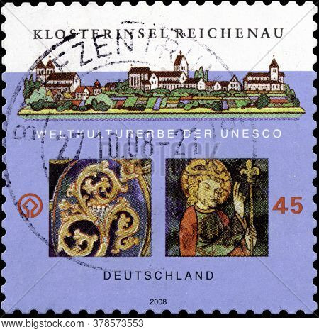 02 11 2020 Divnoe Stavropol Territory Russia The Postage Stamp Germany 2008 World Heritage Of Unesco