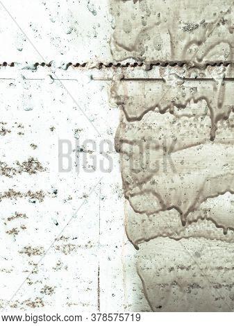 Zinc Metal Texture. Patina Industrial Sea Pattern. Ancient Clouds Paint. Background Zinc Metal Textu