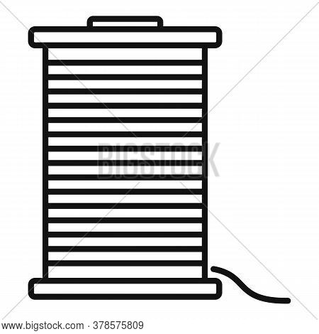 Contruction Wire Coil Icon. Outline Contruction Wire Coil Vector Icon For Web Design Isolated On Whi