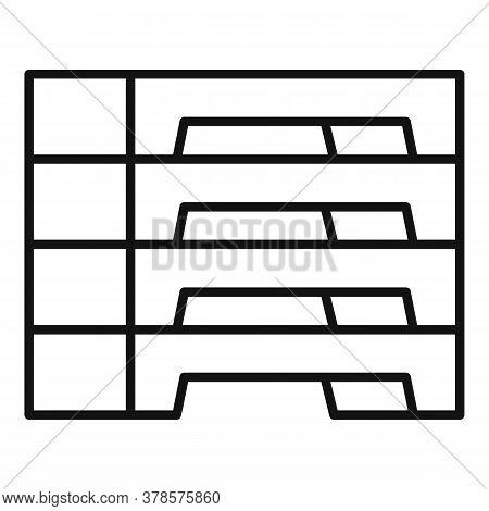 Concrete Blocks Icon. Outline Concrete Blocks Vector Icon For Web Design Isolated On White Backgroun