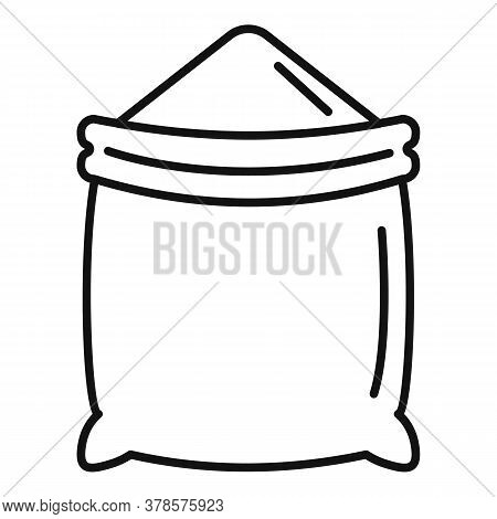 Construction Powder Sack Icon. Outline Construction Powder Sack Vector Icon For Web Design Isolated