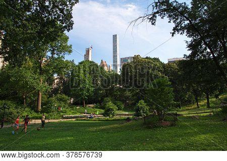 New York / United States - 01 Jul 2017: New York Central Park, United States